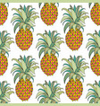 stylized colorful pineapple seamless pattern vector image