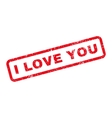 I Love You Text Rubber Stamp vector image