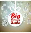 Christmas Big Sale template with copy space vector image vector image