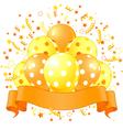 Holiday balloons design vector image