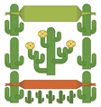 cactus ornaments vector image vector image