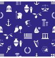 greece country theme symbols and icons seamless vector image
