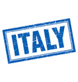 Italy blue square grunge stamp on white vector image