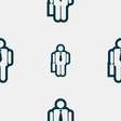 businessman icon sign Seamless pattern with vector image