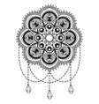 Hand drawn mandala coloping page vector image