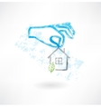 Safe house grunge icon vector image