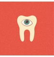 tooth retro poster vector image