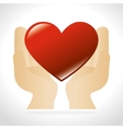 hands human with heart vector image