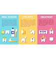 Set of banners with dental information vector image vector image