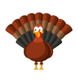 turkey tanksgiving character icon vector image