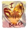 Tropical beach summer print with slogan vector image