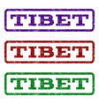 tibet watermark stamp vector image