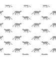 cat seamless pattern walking kitten background vector image