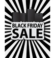 Black friday sale with shopping bags vector image