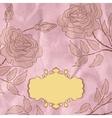 Vintage flower background EPS 8 vector image vector image