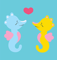 Lovely seahorses vector image vector image