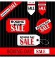 Boxing day Retail Tags vector image