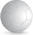soccer ball isolated on white background vector image vector image