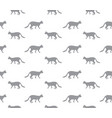 cat seamless pattern walking kitten background vector image