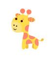cute cartoon giraffe animal toy colorful vector image