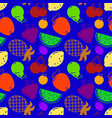flat fruits seamless pattern flat vector image