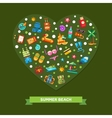 heart composition with modern flat vector image