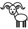 Ibex vector image