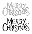 Merry christmas text lettering vector image