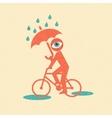 Cyclist Retro poster vector image