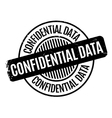 Confidential Data rubber stamp vector image