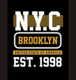 Athletic nyc vector image