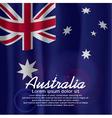 Australia Flag Curtain vector image