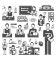 Back to School Set of icons on a white background vector image