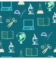 Seamless background with education objects vector image