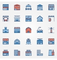 Flat building icons set vector image