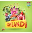 Amusement Park Emblem vector image