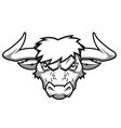 Bull head 2 vector image