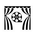 cinema theatre film reel vector image