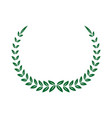 green laurel decoration ornament sport symbol vector image