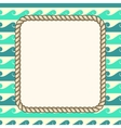 nautical ropes frame waves background vector image