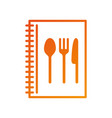 recipe book cooking menu restaurant element vector image