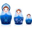 Russian tradition matryoshka dolls vector image