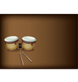 Beautiful Bongo Drum on Dark Brown Background vector image
