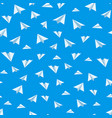 origami paper airplane seamless background vector image