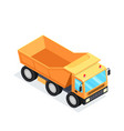 3d mining equipment heavy construction machinery vector image