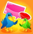 Birds with speech bubbles vector image