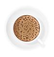 coffee crema 01 vector image