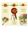Escargout food set vector image