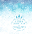 Christmas background with snowflakes and snow vector image vector image