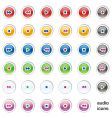 web internet audio buttons vector image vector image